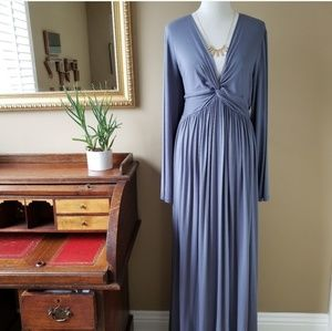 Rachel Pally Long Sleeve Caftan Maxi Dress Blue